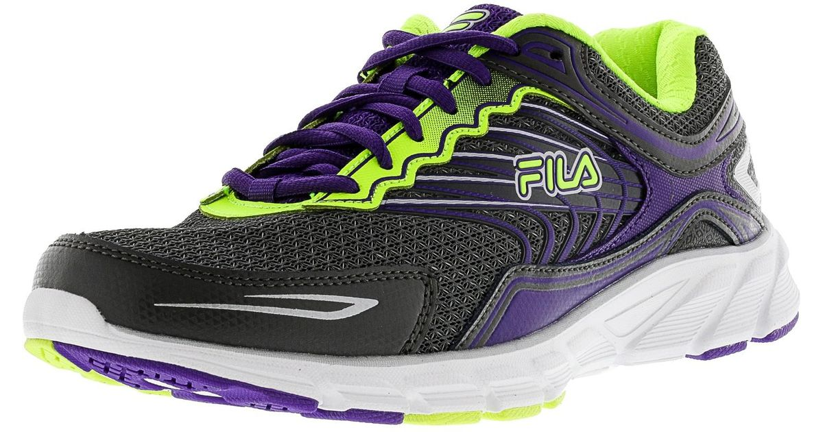 c87e8975 Fila - Memory Maranello 4 Pewter / Electric Purple Safety Yellow Ankle-high  Running Shoe - 7m - Lyst