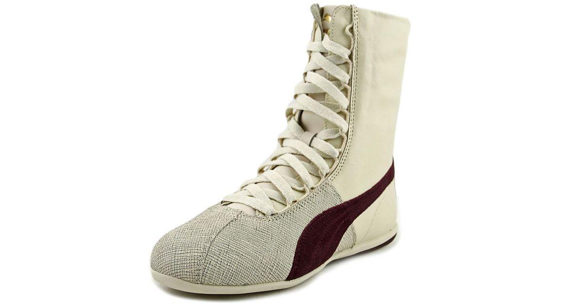 86cef158f7f Lyst - PUMA Eskiva Hi Remaster Burgundy Sneakers