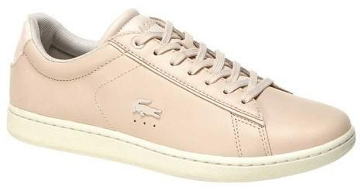 8f168b9db Lyst - Lacoste Carnaby Evo Leather Sneaker