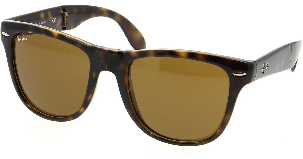 b8978d38f7d02 Lyst - Ray-Ban 0rb4105 710 50 Light Havana crystal Brown Folding Wayfarer  Icons Sunglasses in Brown