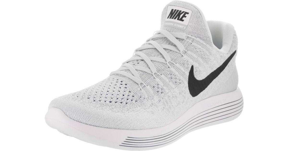 promo code e9d35 021d7 Nike Lunarepic Low Flyknit 2 White black pure Platinum Running Shoe 9.5  Women Us in White - Lyst