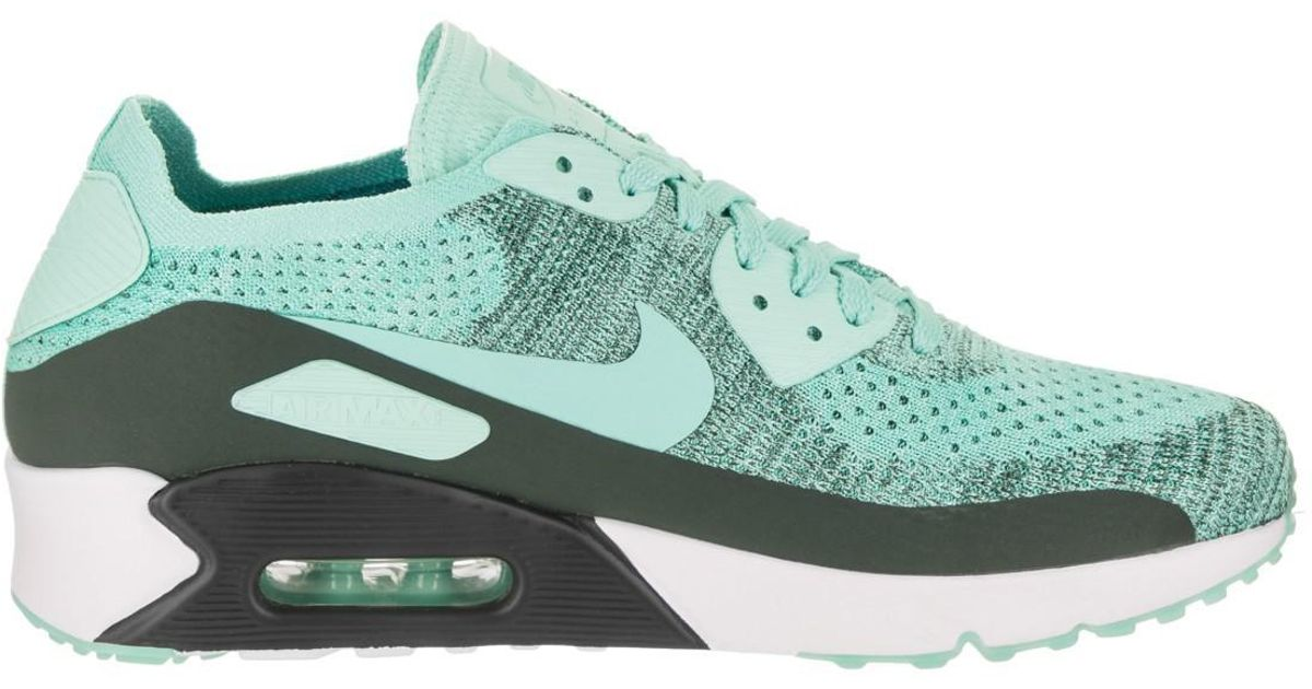 81507a7ab4e3 ... italy lyst nike air max 90 ultra 2.0 flyknit turquoise white 875943 301  for men c7be1