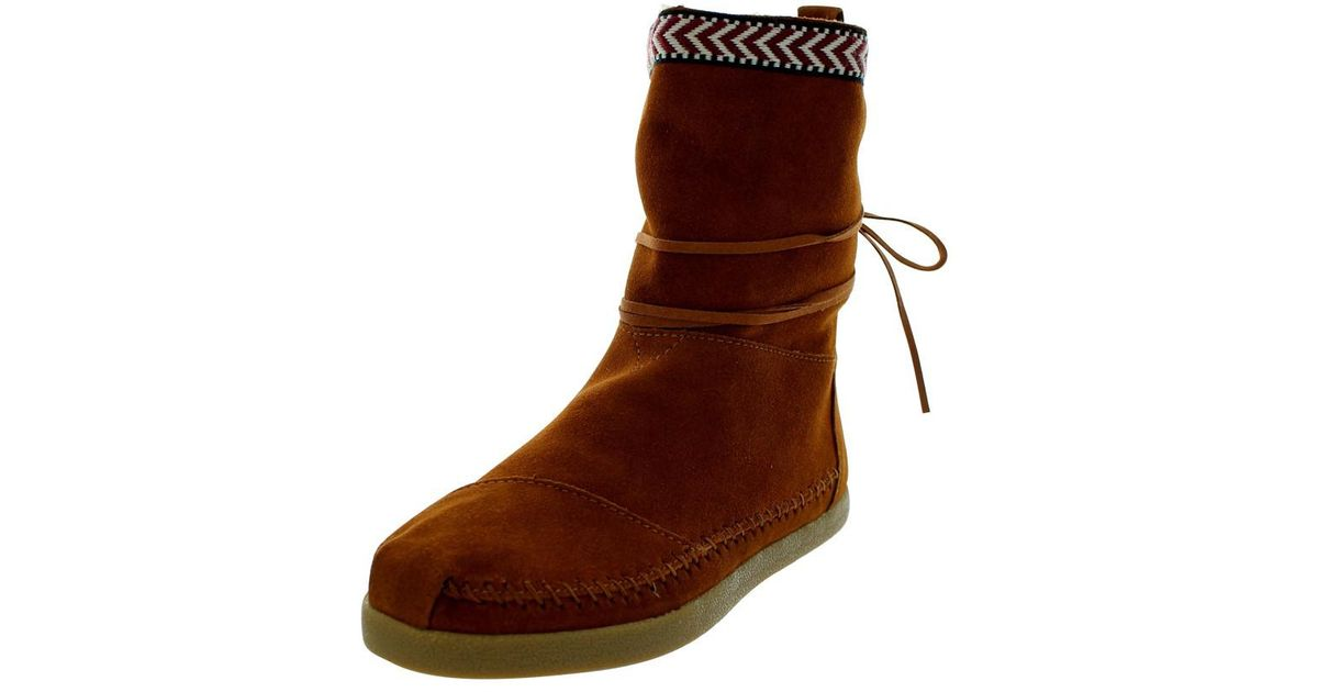 c3d085abc69 Lyst - Toms Nepal Chestnut Suede Trim Boot 6.5 Women Us in Brown