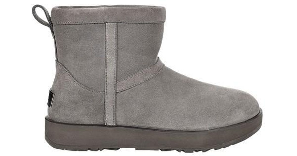4eb71ff921f Lyst - UGG Ugg Classic Mini Waterproof Bootie in Gray