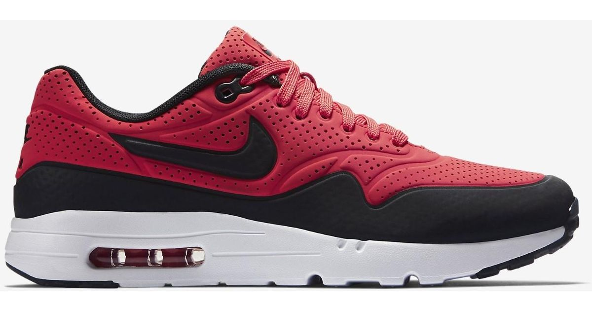 sports shoes 7a2b4 33f20 Lyst - Nike Air Max 1 Ultra Moire Rio white anthracite 705297-601 (size 10)  in Red for Men