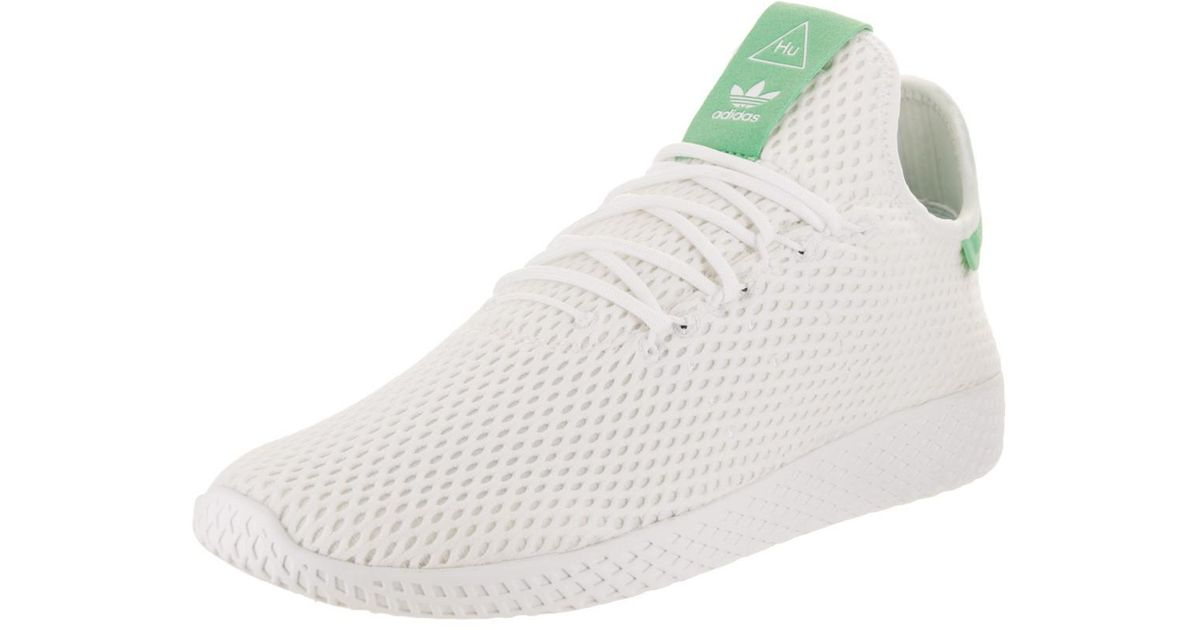 ae2e2bbf4 Lyst - adidas Pharrell Williams Tennis Hu Originals White white green Glow  Casual Shoe 10.5 Men Us in White for Men