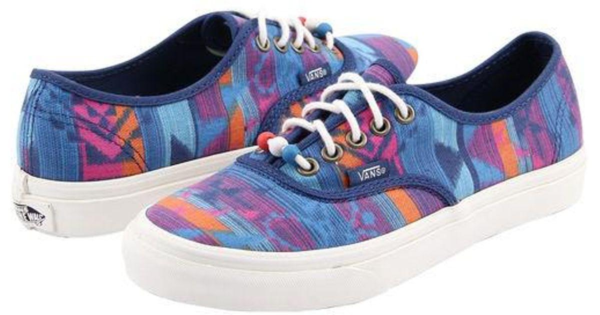 2d98bc8c91 Lyst - Vans Authentic Slim Shoe -  purple in Blue for Men