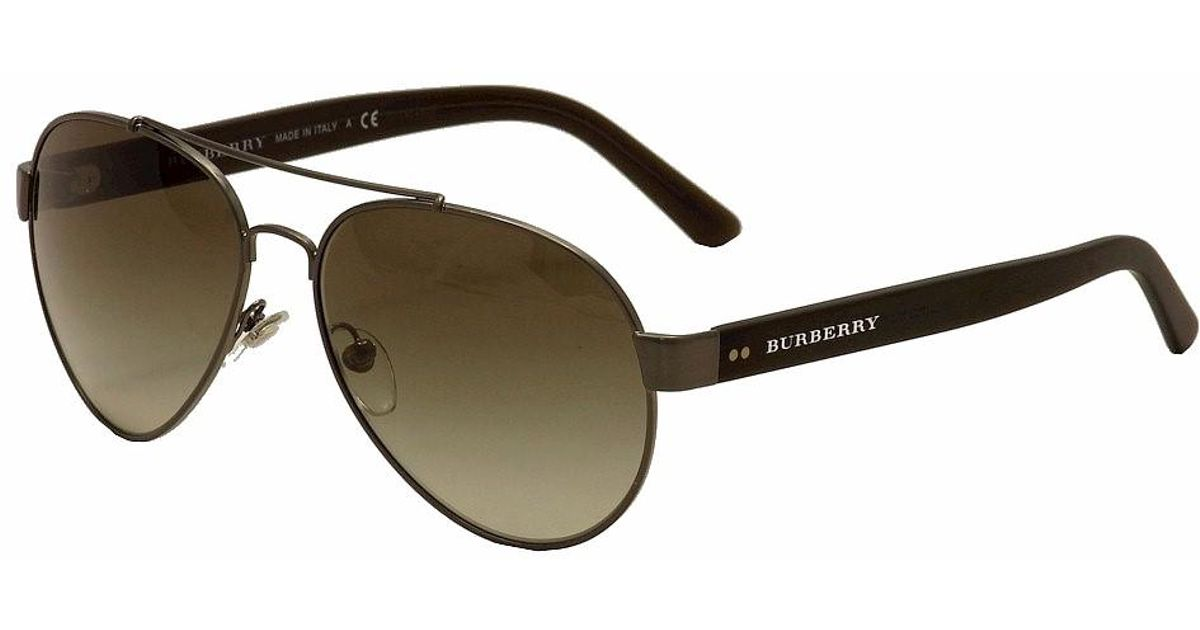 c9fc574afc3 Lyst - Burberry Be3086 Be 3086 1008 3y Brushed Gunmetal Pilot Sunglasses  59mm for Men