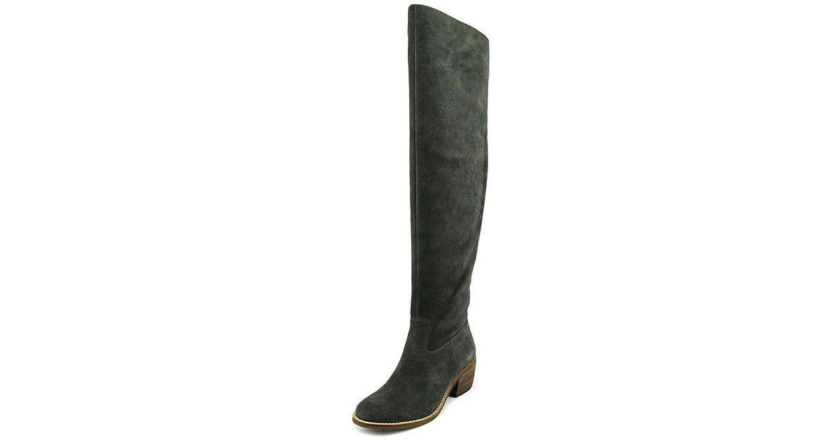 781412e3821 Lyst - Lucky Brand Khlonn Women Us 7.5 Gray Over The Knee Boot