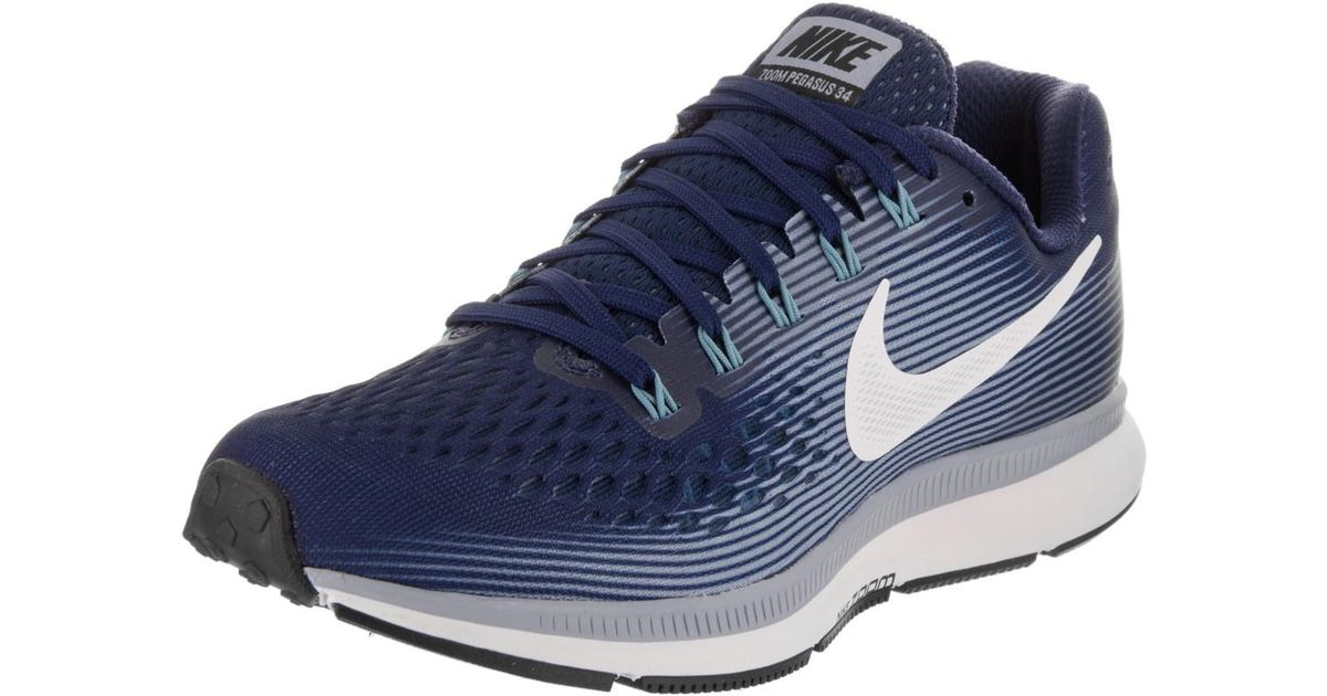 Lyst - Nike Air Zoom Pegasus 34 Binary Blue/white/glacier/grey Running Shoe  8.5 Women Us in Blue