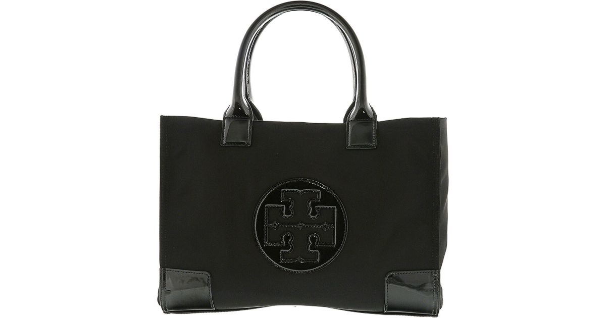 1cc49c97a Lyst - Tory Burch Ella Mini Nylon Top-handle Bag Tote in Black