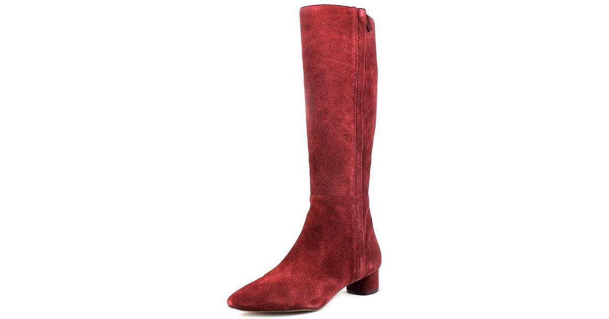 7dc866adaff Lyst - Nine West Nicoh Women Us 7 Burgundy Knee High Boot in Red