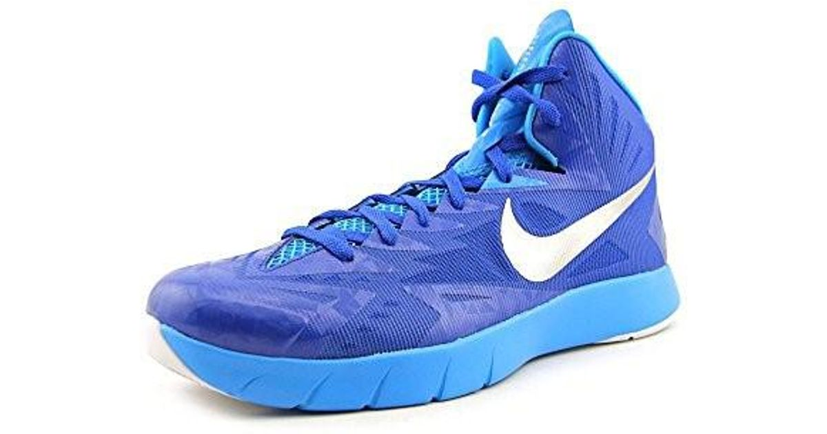 ef6b3035bf22 Lyst - Nike Mens Lunar Hyperquickness Tb Basketball Shoes Royal Blue silver  652775 406 (4.5 D(m) Us) in Blue for Men