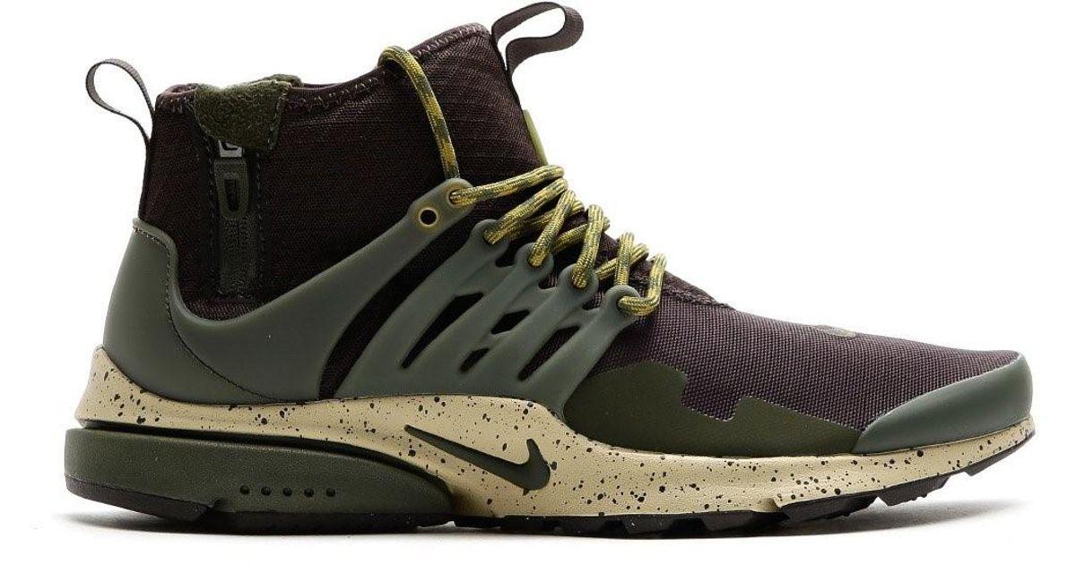 0a07c888213c Lyst - Nike 859524-200   Air Presto Mid Utility Shoe Velvet Brown cargo  Khaki for Men