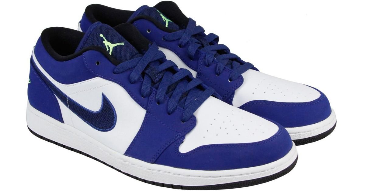 6452f85921d43b Lyst - Nike Air Jordan 1 Low Insignia Blue Ghost Green Wolf Grey Black Mens  Lace Up Sneakers in Blue for Men