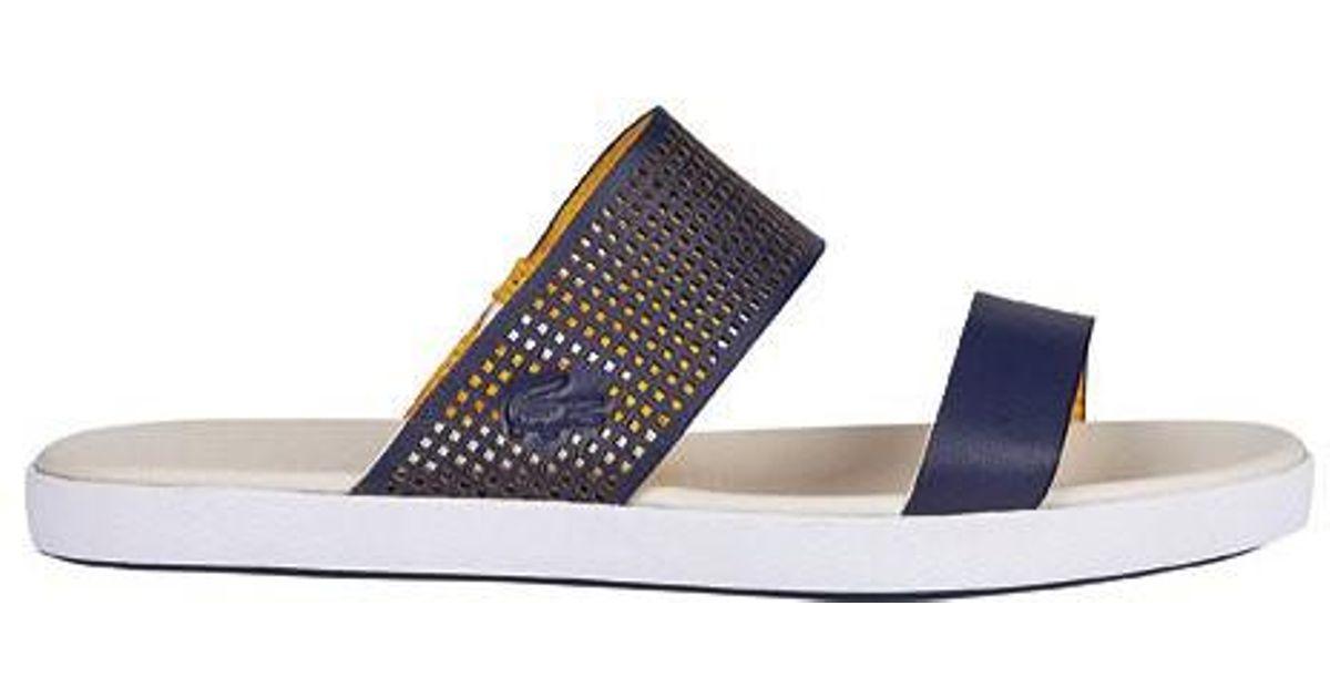 3b1f66612 Lyst - Lacoste Natoy 216 1 Slide in Blue