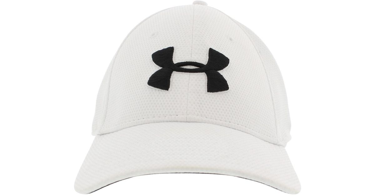 1fa14379196 ... Lyst - Under Armour Ua Blitzing Ii Stretch Fit Cap 100.whiteblack Lxl  in White ...