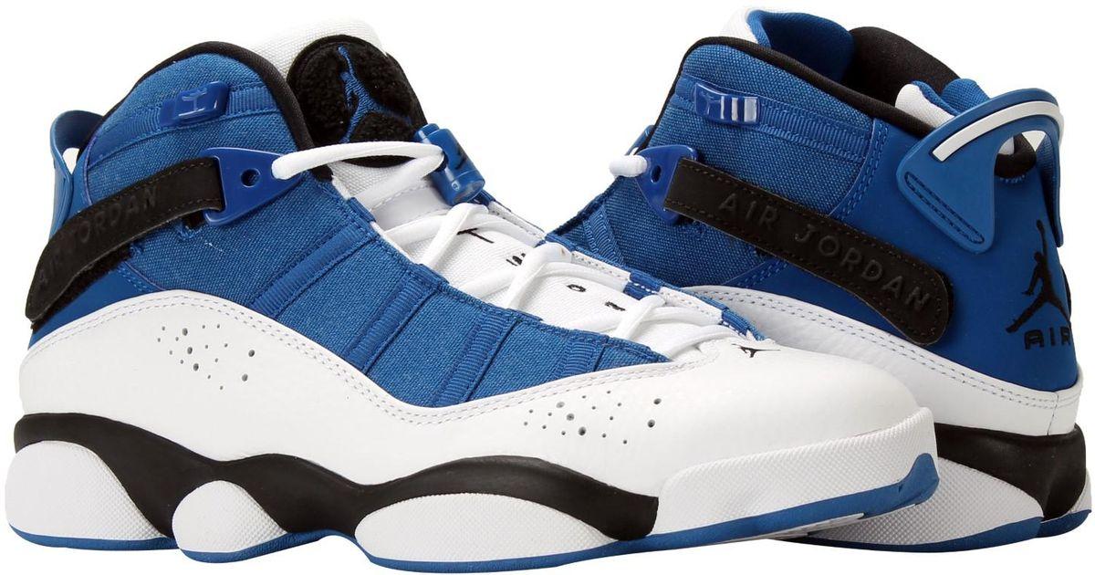 online retailer be594 027e1 Nike Jordan 6 Rings Royal/black-white 322992-400 for Men - Lyst