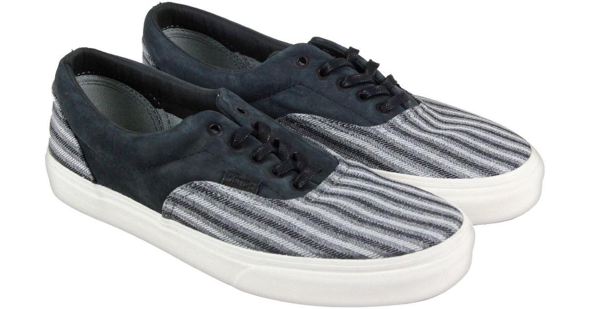 fabcb2f6133 Lyst Vans Era Ca Italian Weave Nubuck Black Mens Lace Up Sneakers