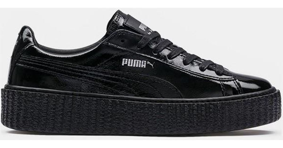 8307c1d28b6aef Lyst - Puma Wrinkled Patent Leather Creeper in Black