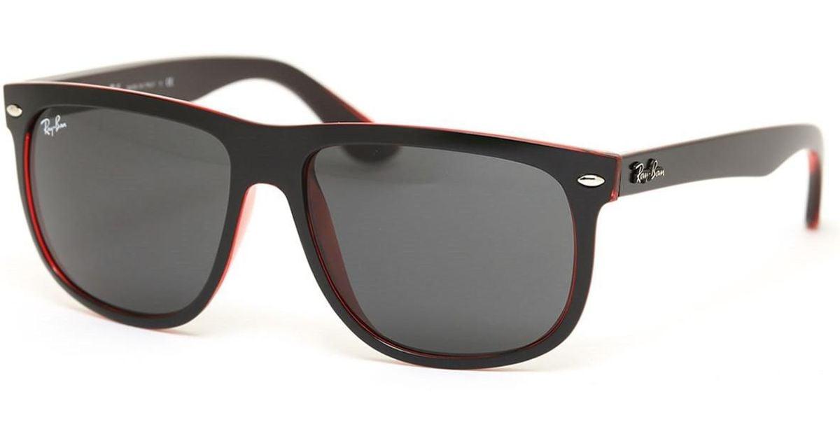 b1bb8a62b34 Lyst - Ray-Ban 0rb4147 617187 60 Top Mat Black On Red Trasp dark Grey  Highstreet Sunglasses for Men