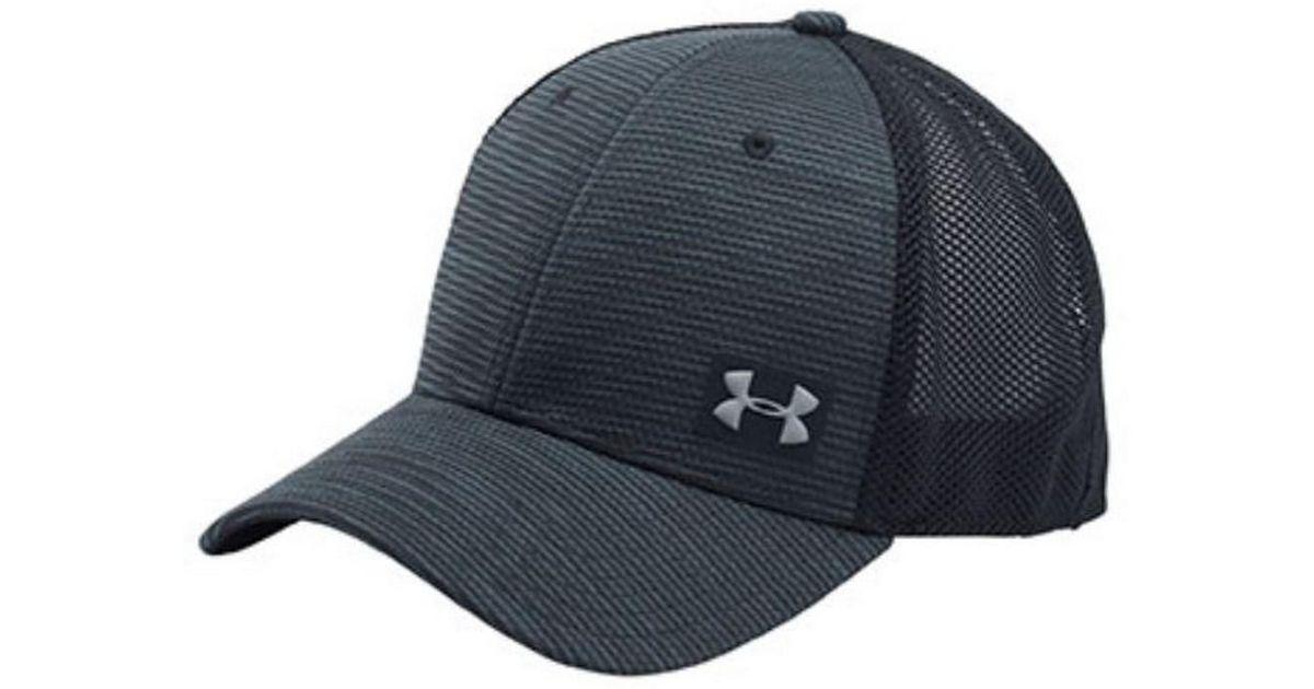 17588e6b19045 ... switzerland lyst under armour ua blitzing trucker baseball cap hat mesh  back black osfa in black