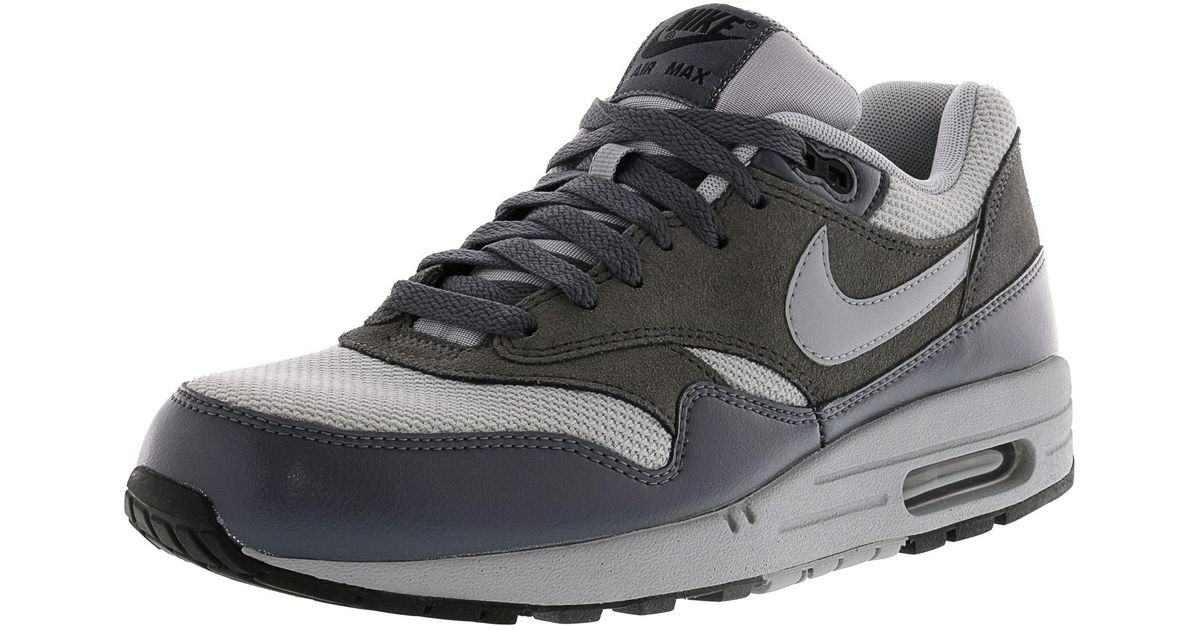 100% authentic 5d573 eb24c ... coupon code lyst nike air max 1 essential wolf grey grey dark ankle  high fashion sneaker