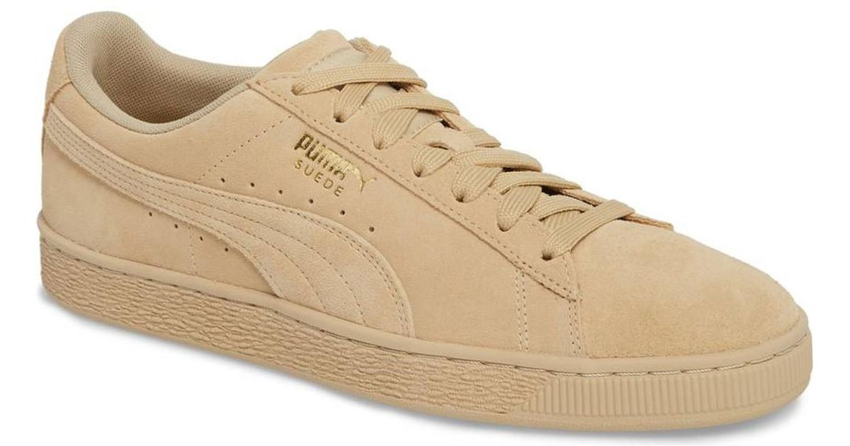 631060fa689 PUMA Suede Classic Tonal Fashion Sneaker   Pebble / Pebble in Natural for  Men - Lyst