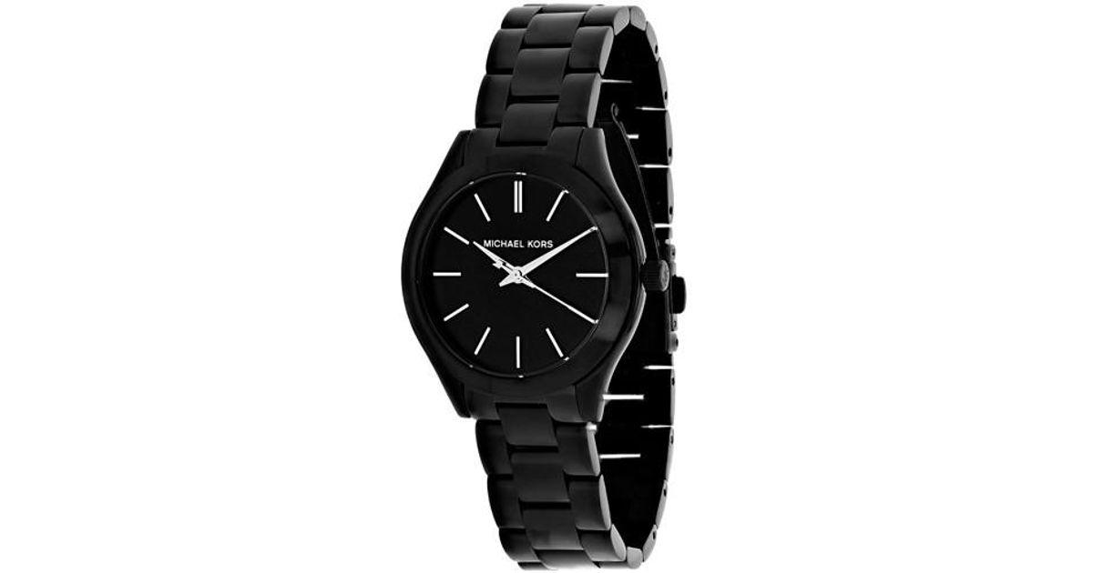 cf2f0b3f56bb Lyst - Michael Kors Slim Runway Watch Mk3587 in Black for Men