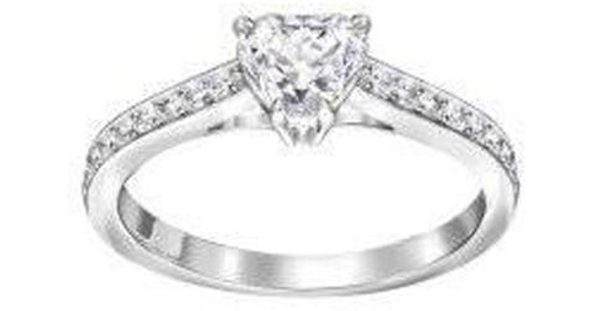 696a14de8 Swarovski Attract Heart Ring - Lyst