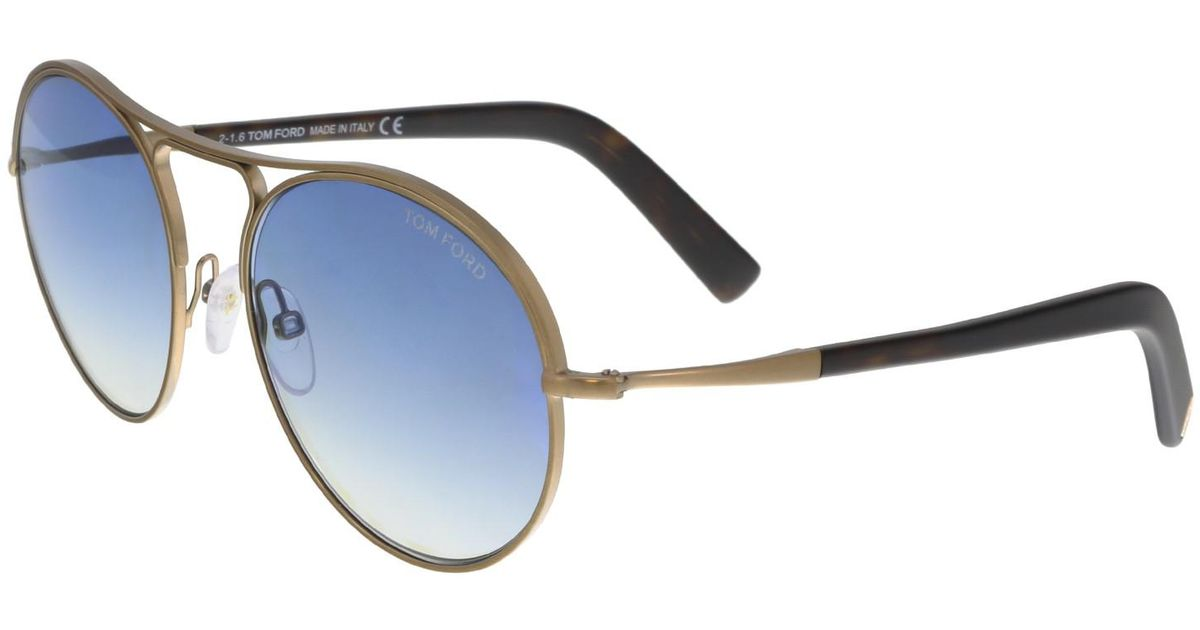 43986674af Lyst - Tom Ford Ft0449 Jessie Round Sunglasses in Blue