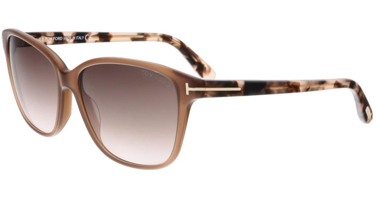 91e9a81f56 Lyst - Tom Ford Ft0432 45f Dana Brown Rectangular Sunglasses in Brown