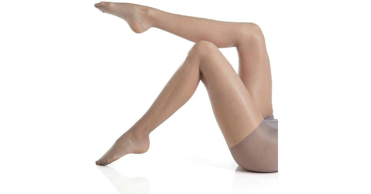 cce8954131df8 Calvin Klein K25f Shimmer Sheer Pantyhose With Control Top (pearl Grey D)  in Gray - Lyst