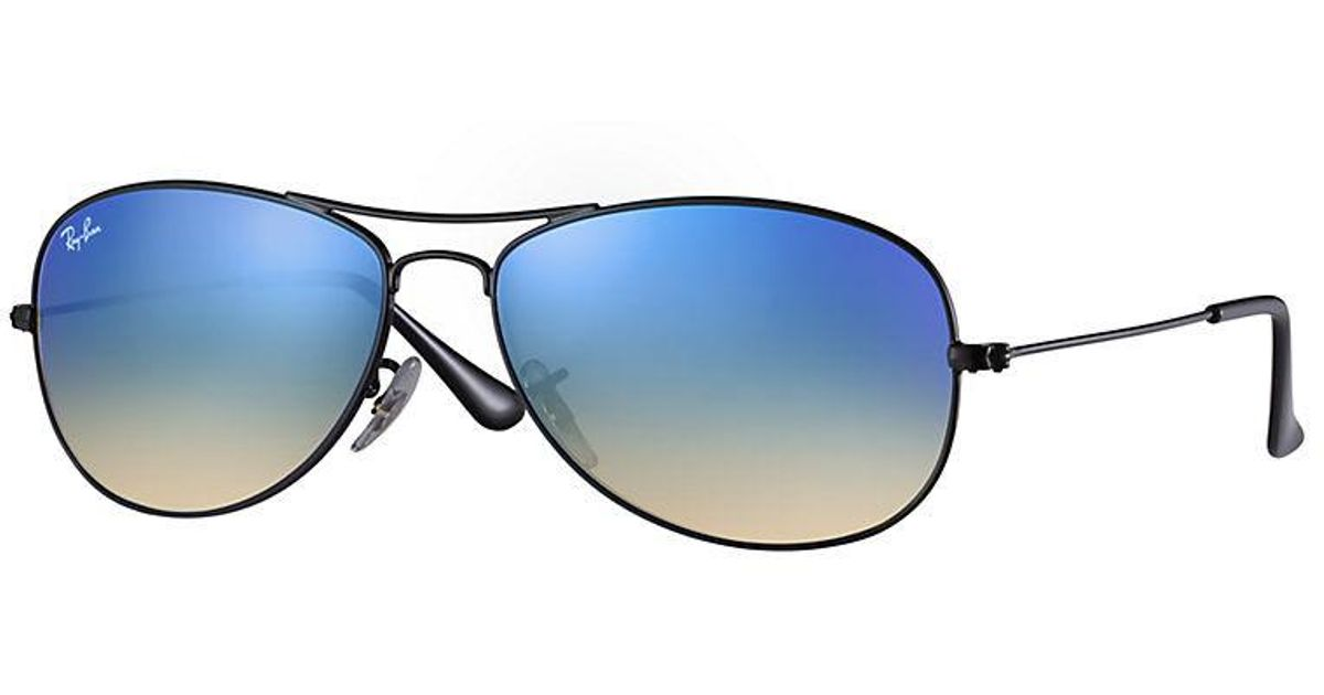 8eb8089983 Lyst - Ray-Ban Rb3362 Cockpit Aviator Sunglasses in Blue