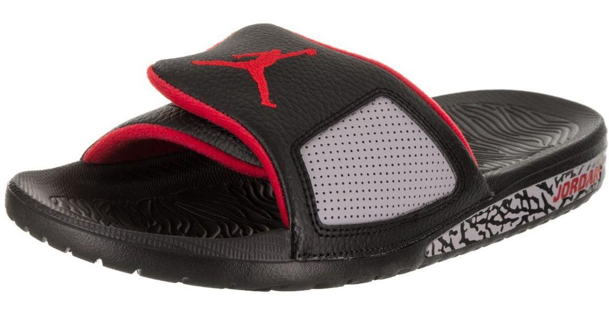 6ec4615d3647 Lyst - Nike Nike 854556-003   Jordan Hydro Iii Retro Black university Red  Sandal in Red for Men