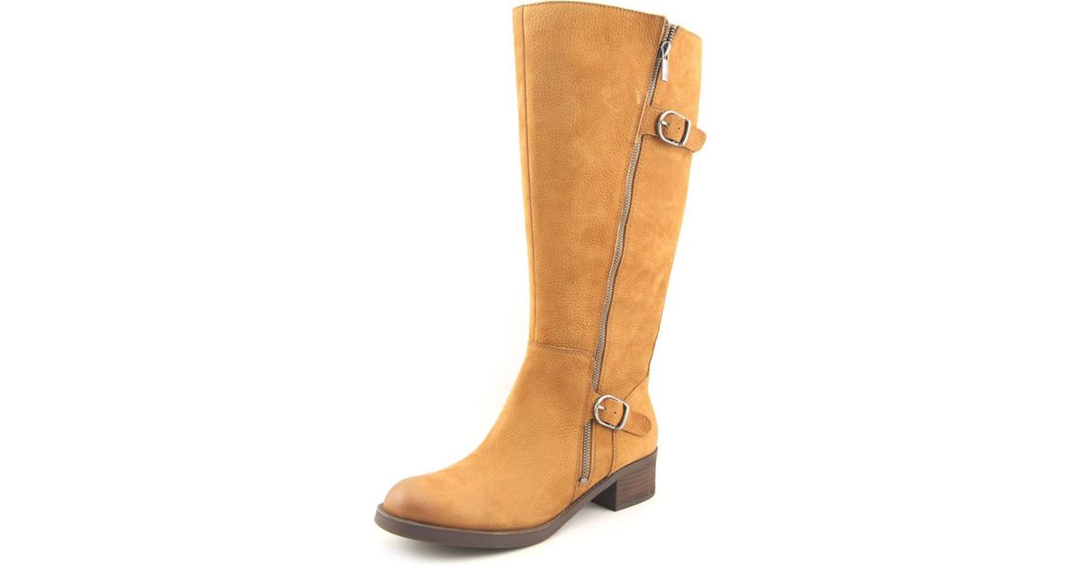 Lyst Lucky Brand Hoxy Wide Calf Women Us 5 5 Tan Knee High Boot In