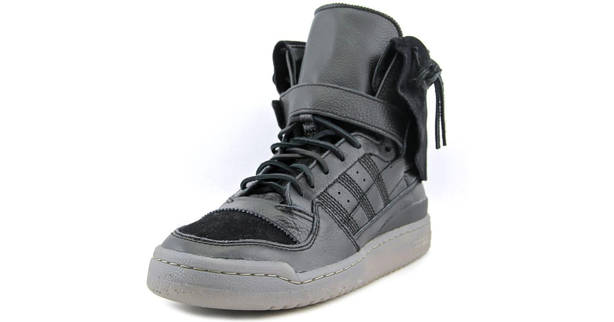 new style 7d4c7 e8d60 Lyst - adidas Forum Hi Moc Men Us 12 Black Sneakers in Black