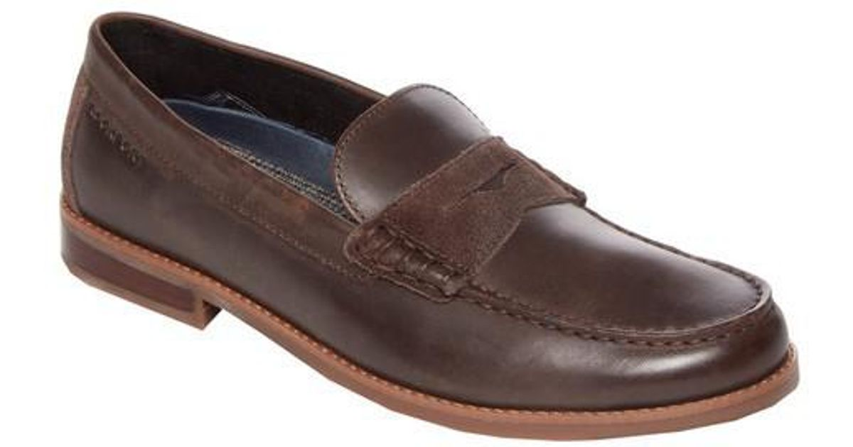 e3fbdc0689b Lyst - Rockport Cayleb Penny Loafer in Brown for Men