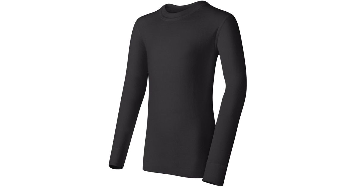 baa0ad87f Lyst - Champion Duofold By 43935436360 Youth Mid Weight Long Sleeve Thermal  Crew in Black for Men