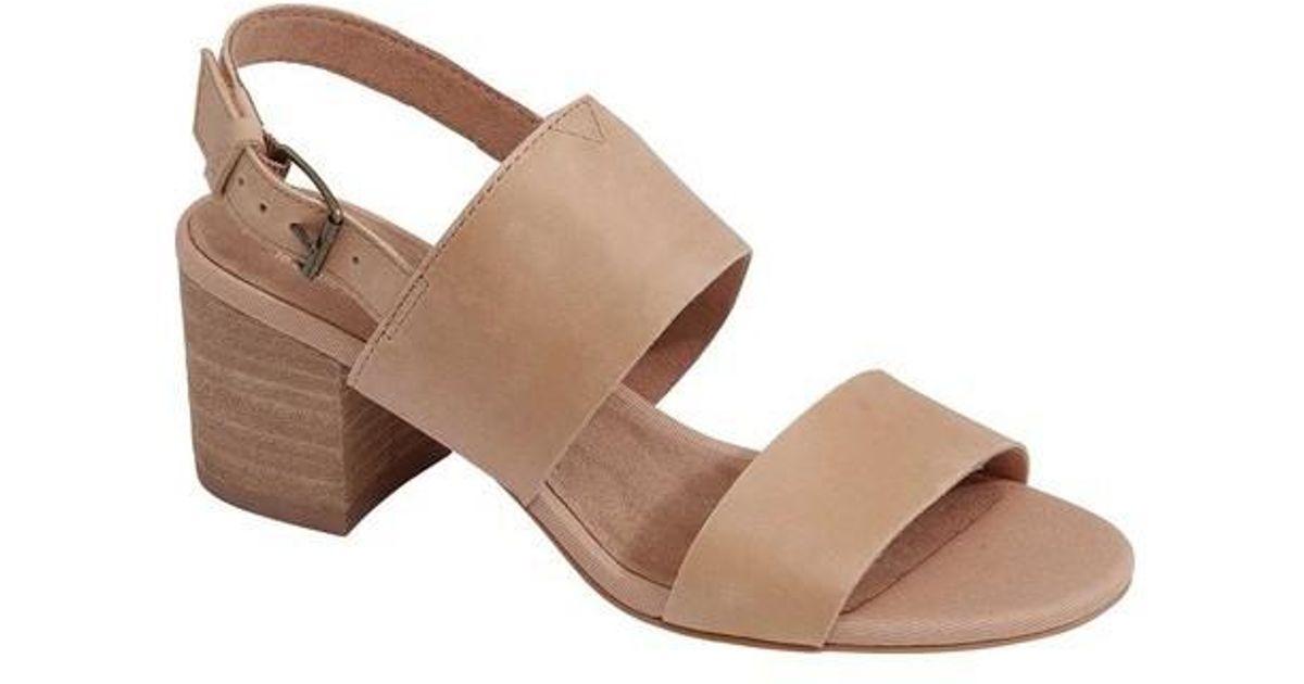 aa7c5e73328 Lyst - Toms Women s Poppy Slingback Sandal in Brown