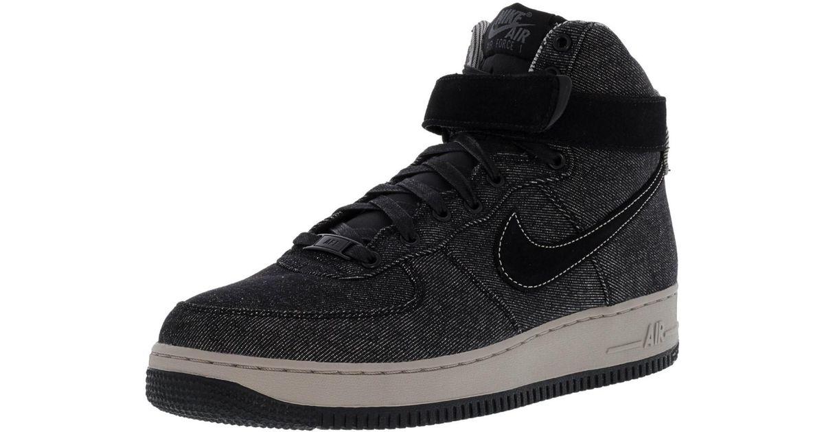 Lyst Nike Women S Air Force 1 Hi Se Black Dark Grey Cobblestone