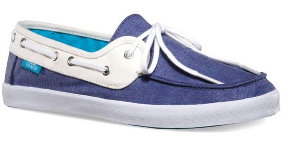 vans boat shoes blue
