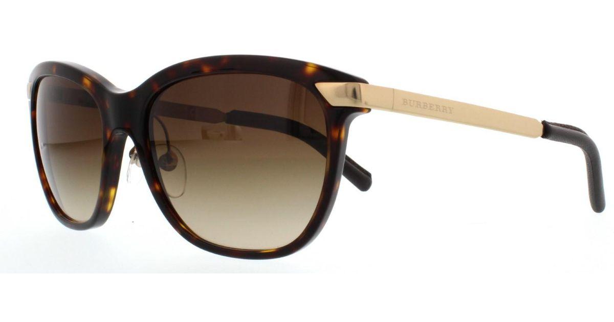 64e5312ba77 Lyst - Burberry Be4169q Sunglasses 300213-57 in Brown
