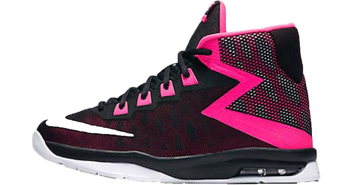 5ebeef9436bc2 ... Lyst - Nike Youth Air Devosion High Top Sneakers-black Pink-3.5 in  Black ...