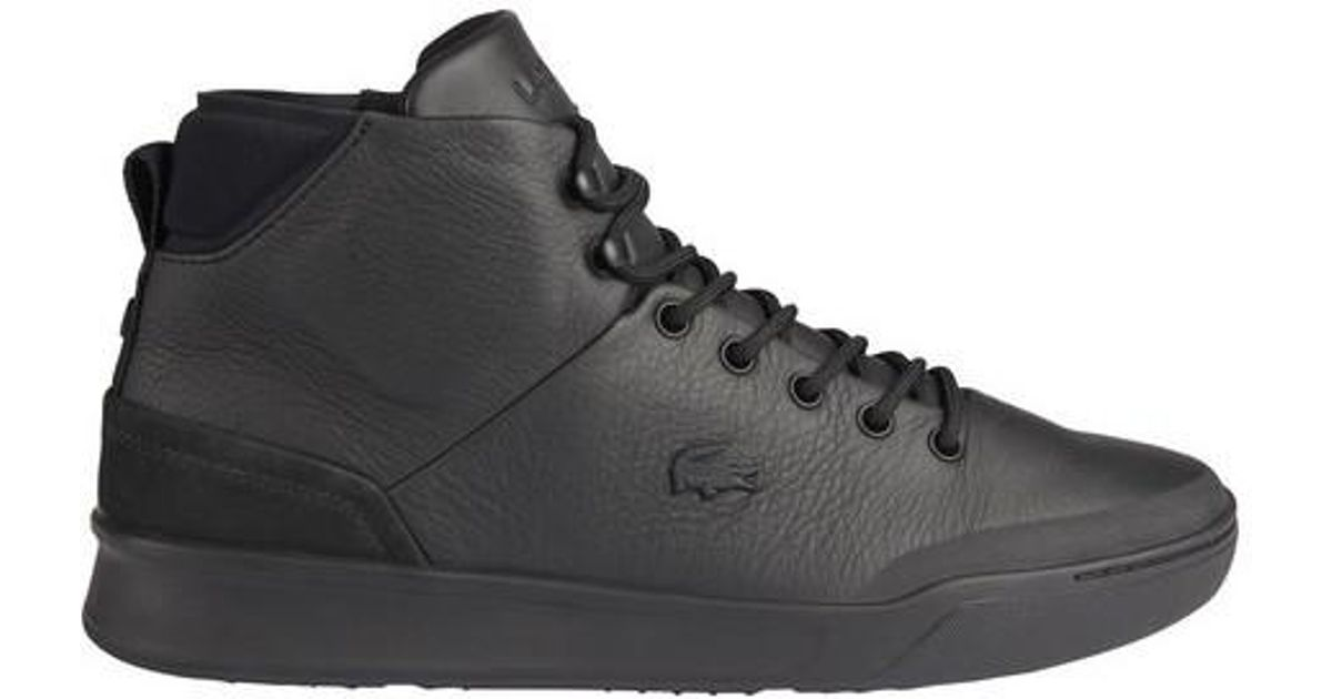 f14902442 Lyst - Lacoste Explorateur Classic 1 Leather High Top in Black for Men