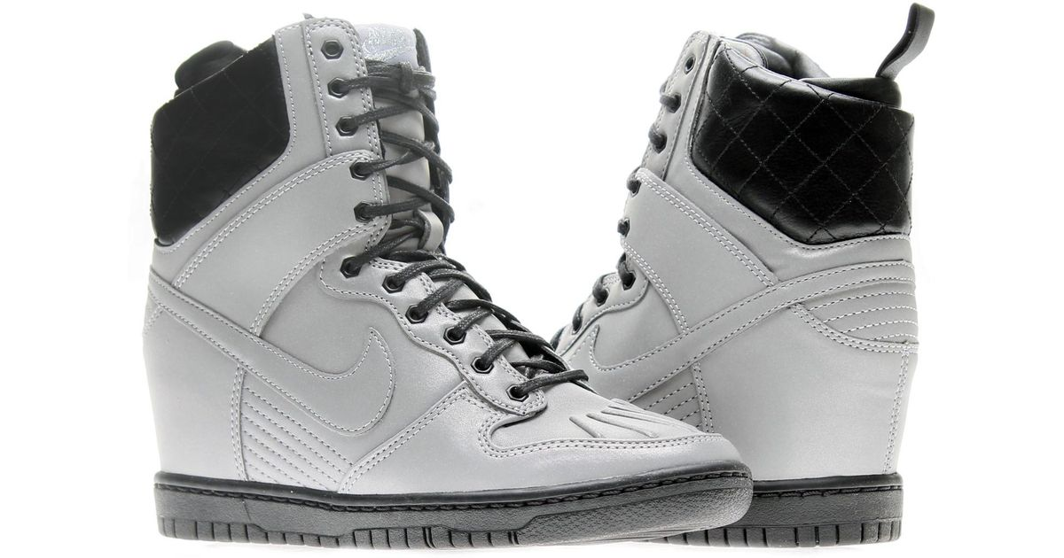 4ba3f548c525 Lyst - Nike Dunk Sky Hi Sneakerboot Premium Wedge Basketball Shoes Size 9