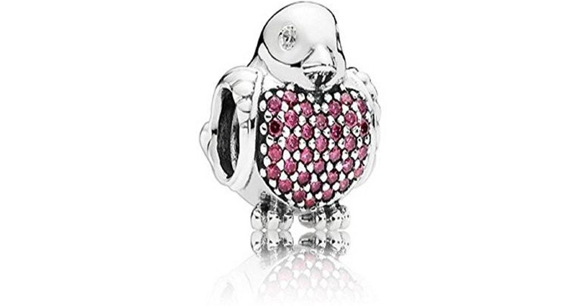 65d2c8b7a PANDORA Red Robin Charm In 925 Sterling Silver in Metallic - Lyst