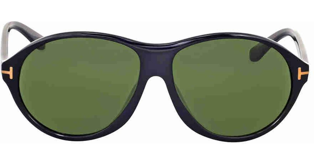 4bef3630904 Lyst - Tom Ford Tyler Round Green Sunglasses in Green