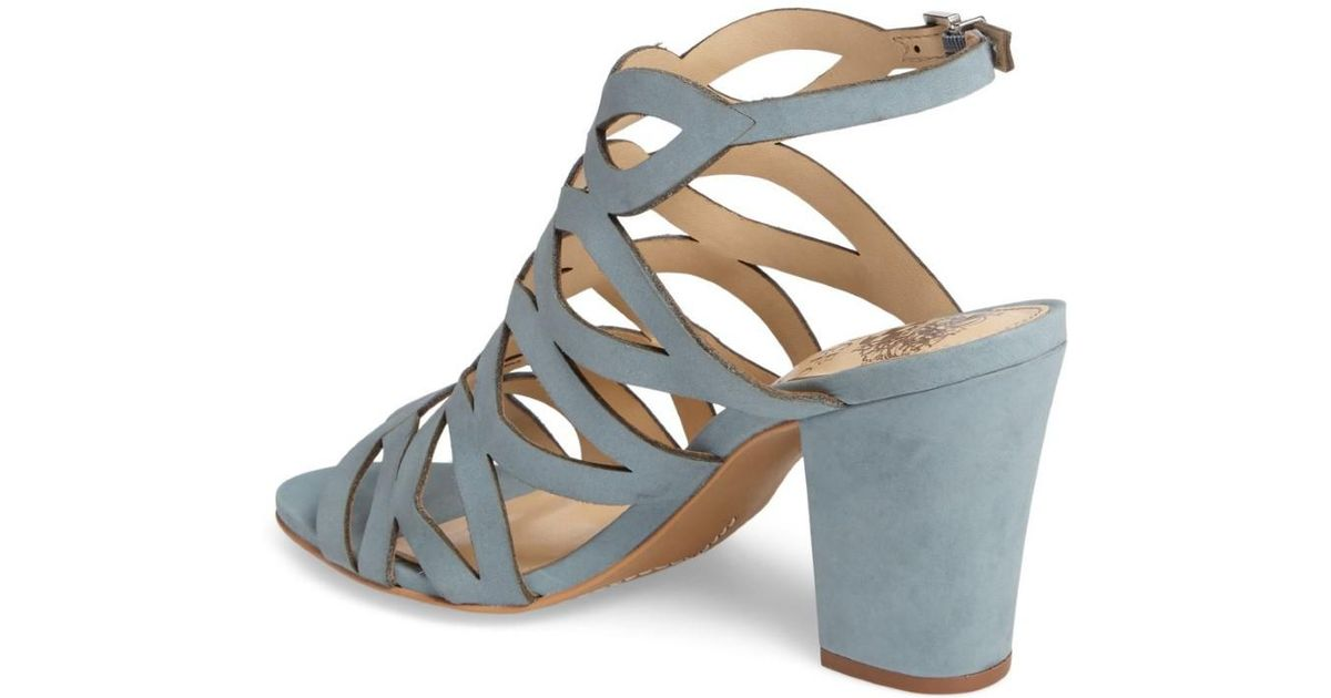 c164263d378 Lyst - Vince Camuto Norla Strappy Block-heel Sandals in Blue
