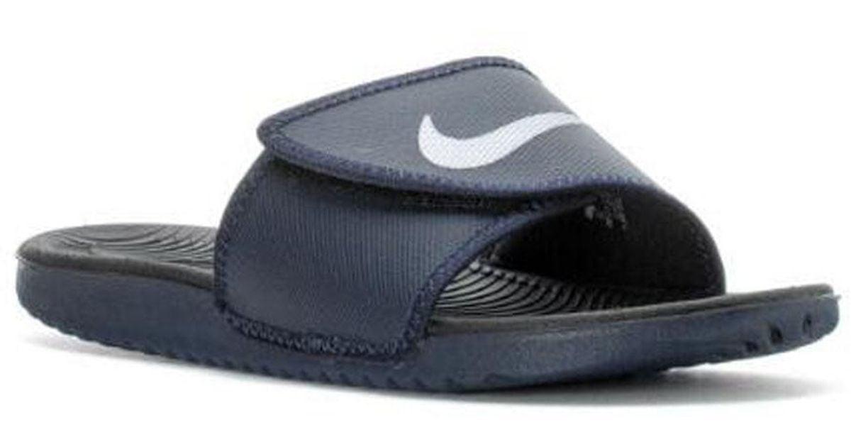 0dc7d325c46 ... where to buy lyst nike kawa adjust sandal in black for men 78596 cc394